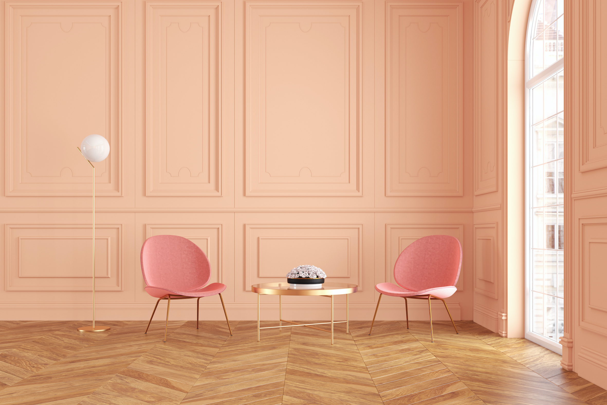 two chairs in a room