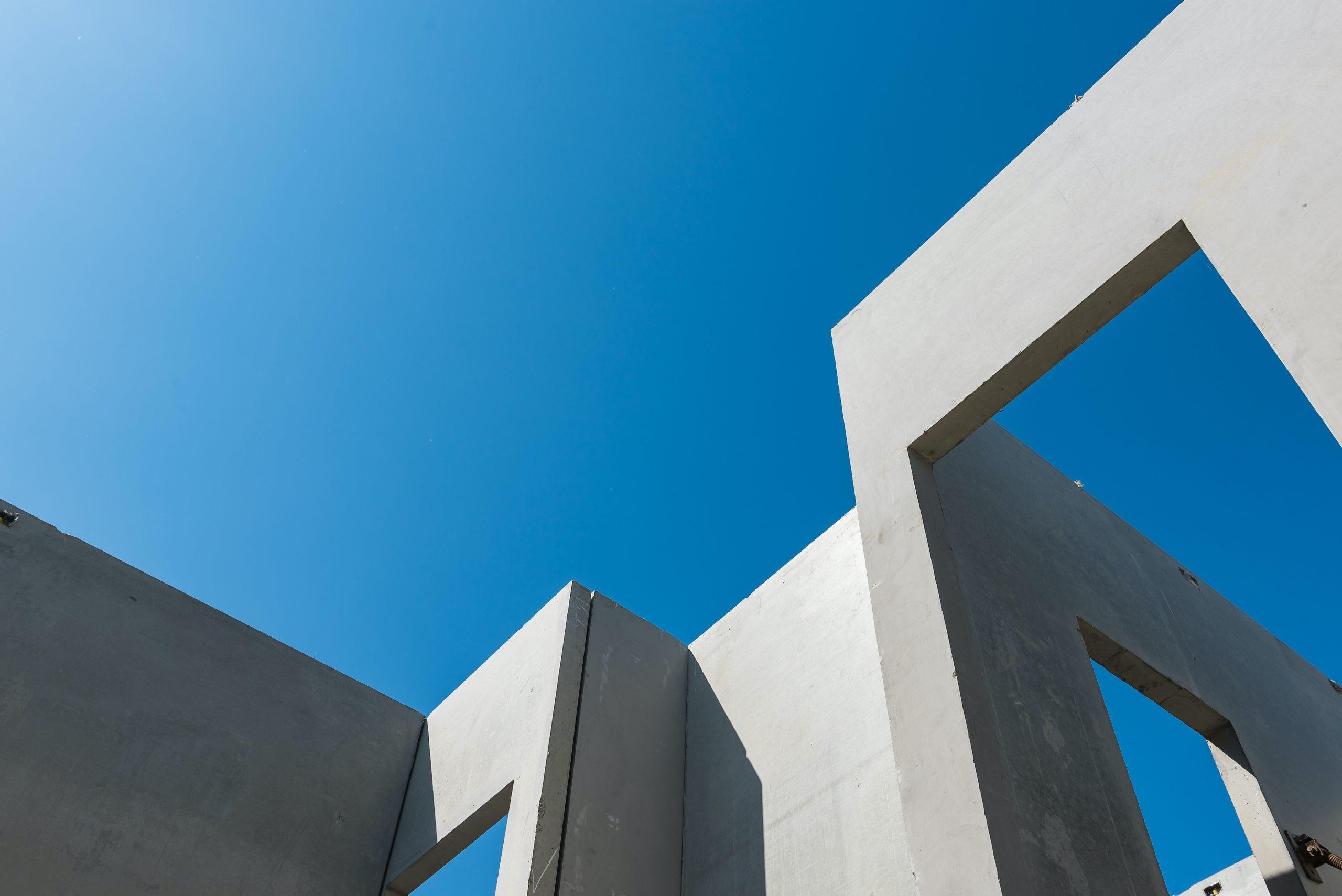 Building blue sky